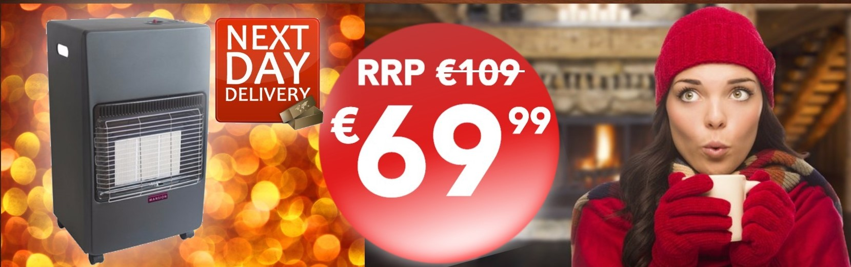 Gas Heater ONLY €69.99