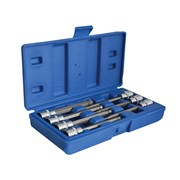 BlueSpot Tools Extra Long 3/8in Square Drive Hex Ball Bit Sockets 7 Piece
