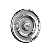 Byron Round Wired Bell Push Flush Fit