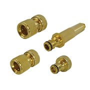 Faithfull Brass Nozzle & Fittings Kit 4 Piece 12.5mm (1/2in)
