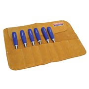 Faithfull Leather Chisel Roll - 8-Pocket
