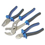 Faithfull Chrome Vanadium Soft-Grip Pliers Set of 3