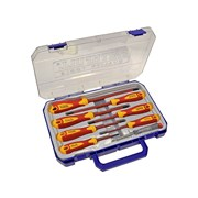 Faithfull VDE Screwdriver Soft-Grip Set of 8 (Case)