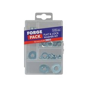 Flat Washer Kit Forge Pack 112 Piece