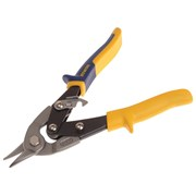 IRWIN Yellow/Blue Aviation Snips Bulldog Cut 225mm
