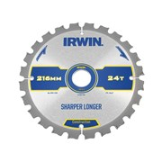 IRWIN Construction Circular Saw Blade 216mm