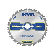 IRWIN Construction Circular Saw Blades 250mm