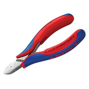 Knipex Electronic Diagonal Cut Pliers - Round Non Bevelled 115mm