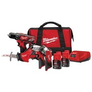 Milwaukee M12 BPP4A-202C 4 Piece Kit 12 Volt 2 x 2.0Ah Li-Ion
