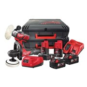 "Milwaukee M18 FPP2K-544X FUELâ""¢ Polisher Pack 18V 2 x 5.0Ah, 12V 1 x 2.0Ah & 1 x 4.0Ah"