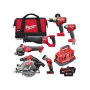 "Milwaukee M18 FPP6B-503B FUELâ""¢ Power Pack 6 Piece Kit 18 Volt 3 x 5.0Ah Li-Ion"