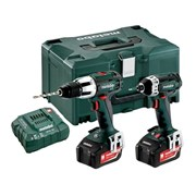 Metabo 2.1.3 Combi & Impact Driver Twin Pack 18 Volt 2 x 4.0Ah