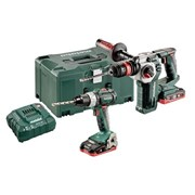 Metabo Combi & SDS Plus Twin Pack 18V 2 x 5.2Ah