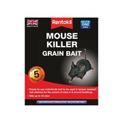 Rentokil Mouse Killer Grain Bait  Pack of 5
