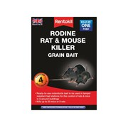 Rentokil Rodine Mouse & Rat Killer Grain Bait Pack of 4 Sachets