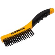 Roughneck Shoe Handle Wire Brush Soft-Grip 250mm (10in)