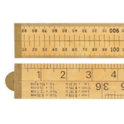 R.S.T. RSR073P wood 4 Fold Rule 1m / 39in (Blister packed)