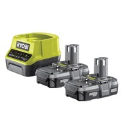 Ryobi RC18120-213 ONE+ Compact Charger 18V & 2 x 18V 1.3Ah Li-ion Batteries
