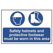 Scan Safety Helmets + Footwear To Be Worn PVC 400 x 600mm
