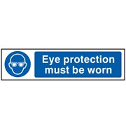 Scan Eye Protection Must Be Worn - PVC 200 x 50mm