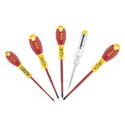 Stanley Tools FatMax VDE Insulated Parallel & Pozi Screwdriver Set of 5