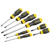Stanley Tools Cushion Grip Screwdriver Flared/Phillips Set of 8