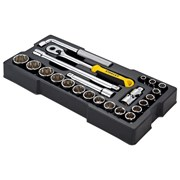 Stanley Tools 1/2in Drive 12 Point Metric Socket Module 23 Piece