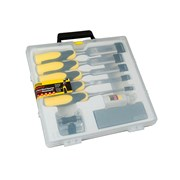 Stanley Tools DynaGrip Chisel + Strike Cap Set of 5 + Access