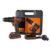 Black & Decker CHD18KB Combi Drill With Case 2 x 1.5Ah Li-Ion