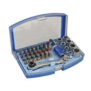 Faithfull Ratcheting Bit & Socket Set 42 Piece