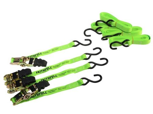 XMS Faithfull Ratchet Tie-Down Set 4 Piece