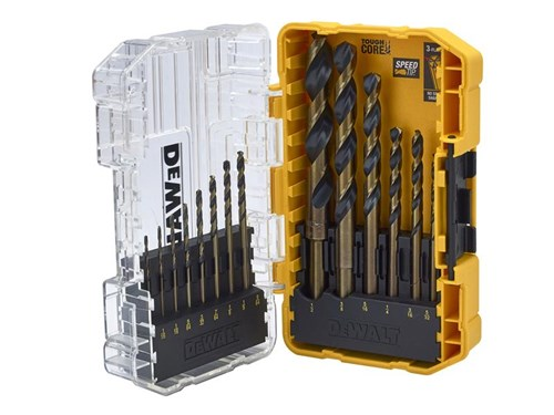 XMS DEWALT DT70727 Black & Gold HSS Drill Set, 14 Piece