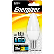 Energizer Lighting Energizer B15 Warm White Blister Pack Candle 5.9w