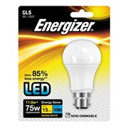 Energizer Lighting B22 Warm White Blister Pack GLS BC 11.6w