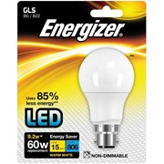 Energizer Lighting B22 Warm White Blister Pack Gls 9.2w