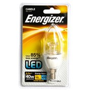 Energizer Lighting Energizer E14 Warm White Blister Candle SES 6.2w- 40w Dimmable