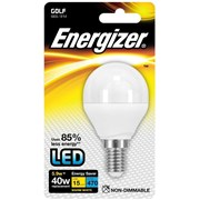 Energizer Lighting Energizer E14 Warm White Blister Pack Golf 5.9w