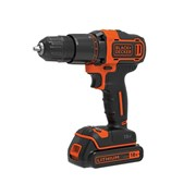 Black & Decker BCD700S1K 2 Gear Hammer Drill 18V 1 x 1.5Ah Li-ion