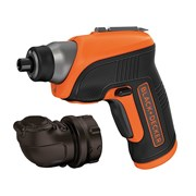 Black & Decker CS3652LC Cordless Screwdriver & Right Angle Attachment 3.6 Volt Li-Ion