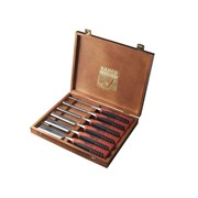 424P-S6 Bevel Edge Chisel Set of 6 In Wooden Box
