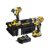 DEWALT DCK255P2 Brushless Twin Pack 18 Volt 2 x 5.0Ah Li-Ion