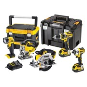 "DEWALT DCK550M3T XR Brushless 5 Piece TSTAKâ""¢ Kit 18V 3 x 4.0Ah Li-ion"