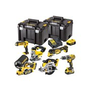 DEWALT DCK665P3T XR Compact 6 Piece Wood Working Kit 18 Volt 3 x 5.0Ah Li-Ion