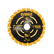 DEWALT Circular Saw Blade 190 x 30mm x 24T Corded Extreme Framing