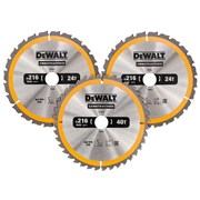 DEWALT Construction Circular Saw Blade 3 Pack 305 x 30mm  2 x 24T 1 x 40T