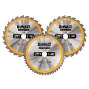 DEWALT DT1964 Construction Circular Saw Blade 3 Pack 305mm