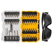 DEWALT DT70703 Screwdriving Set, 47 Piece + Safety Glasses