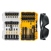 "DEWALT DT70733T FLEXTORQâ""¢ Screwdriving Set, 38 Piece + Safety Glasses"