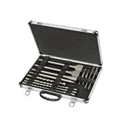 DT9670 SDS Plus Drill & Chisel Set In Aluminium Case 15 Piece