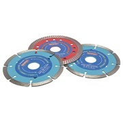 Faithfull Diamond Blade Set 3Pc - Mixed 115Mm